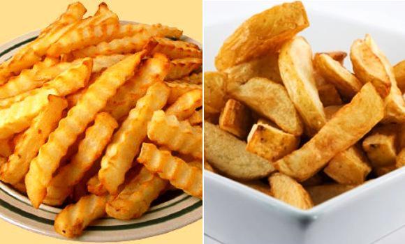 Patatas fritas en su punto crujientes y tiernas a la vez