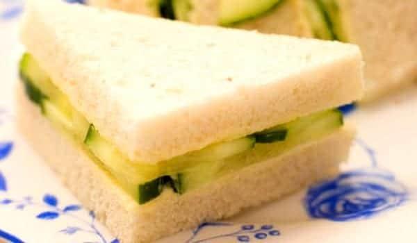 Sandwich de pepino bocado ingls  Recetn