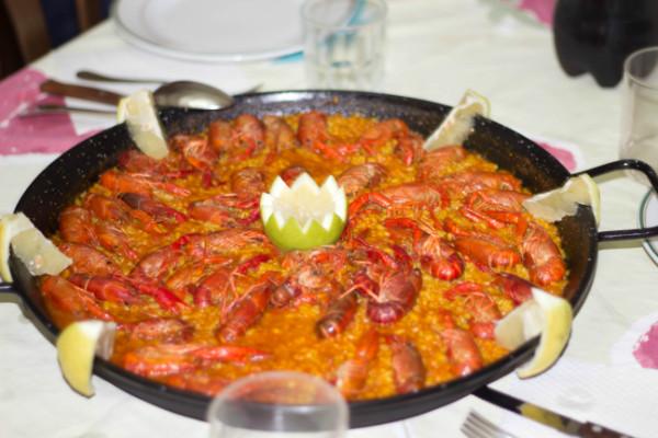 Paella de cangrejos de rio  Recetzate