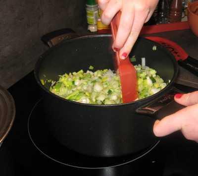 crumble poireau - cuisson