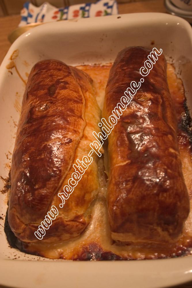 Filet mignon en crote au lard et  la moutarde  plats