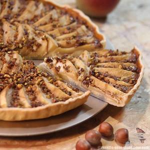 tarte-pommes-noisettes-sanssucre