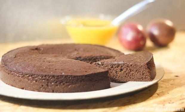 Gateau chocolat fruits exotiques