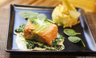 saumon epinards