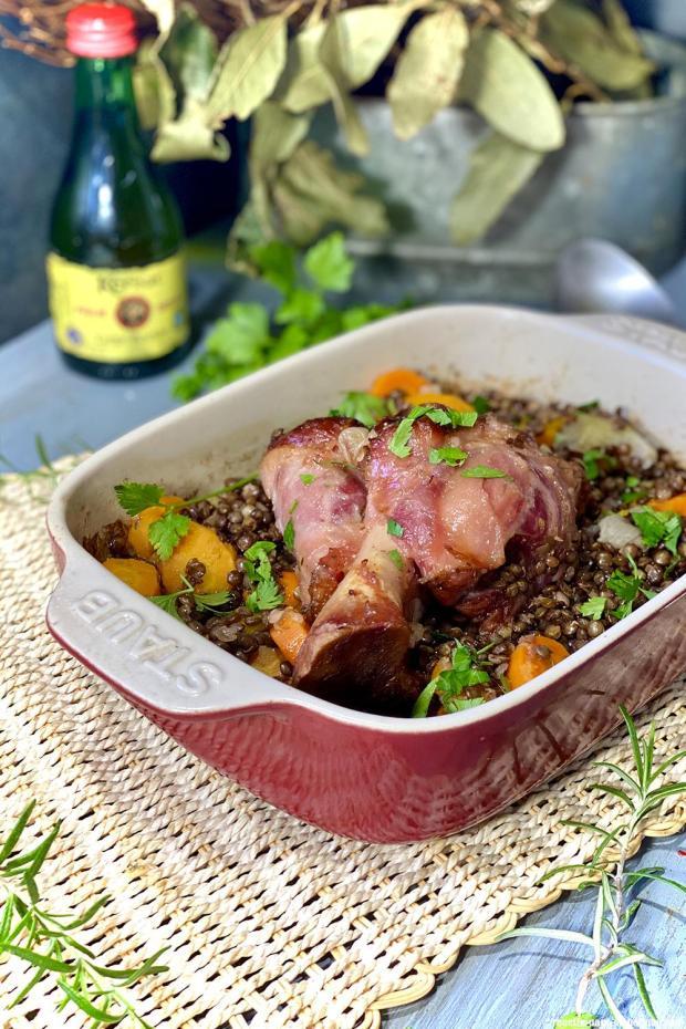 Recette Jarret De Porc Aux Lentilles : recette, jarret, lentilles, Jambonneau, Cidre, Lentilles