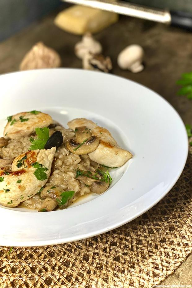 risotto-poulet-chamignons