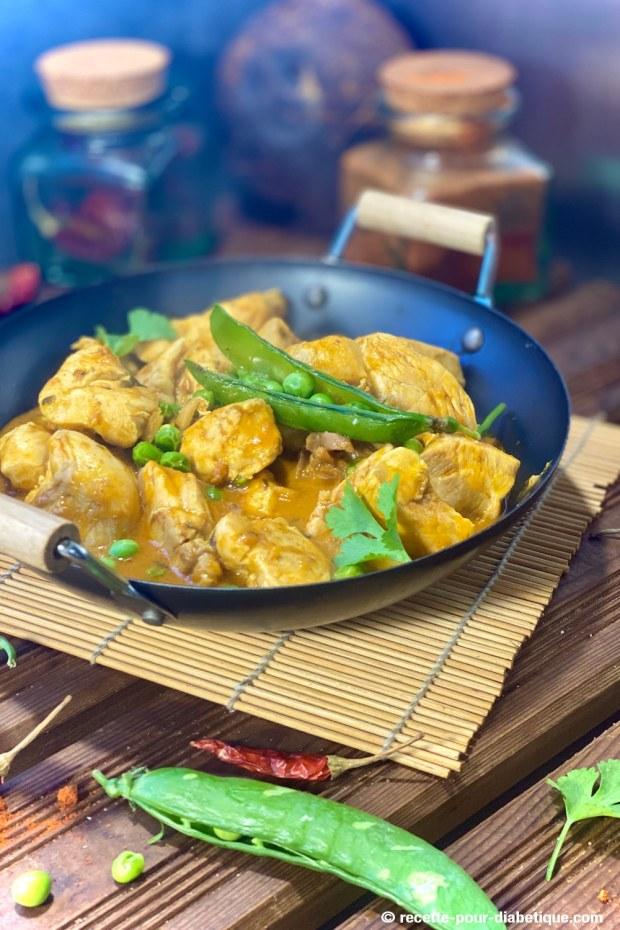 poulet curry thai