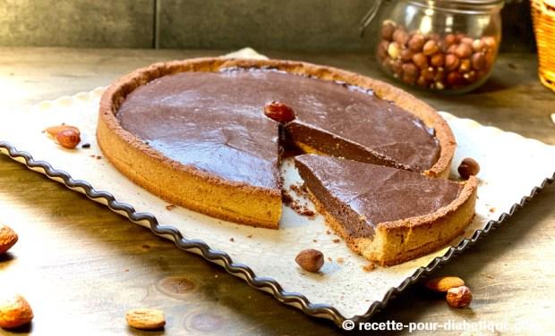 tarte ganache chocolat praliné