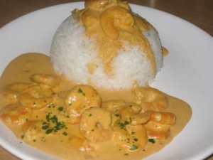 Crevettes au curry avec cookeo