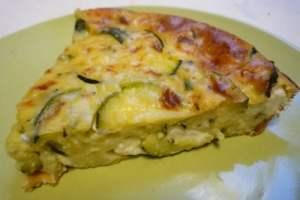 Clafoutis Courgettes et fromage de chèvre thermomix