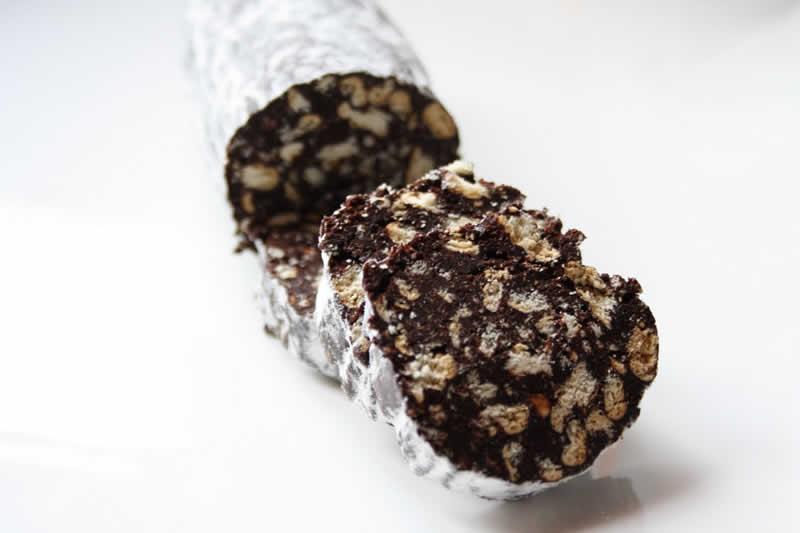 Saucisson au chocolat de noel avec thermomix