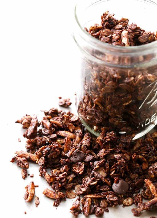 Granola amande et chocolat au thermomix