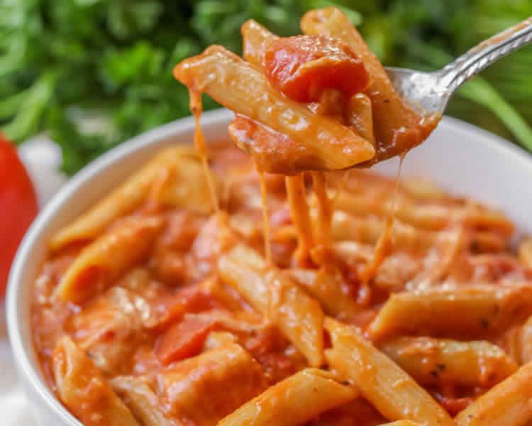 pates sauce tomate et creme au cookeo