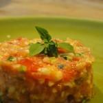 salade de courgettes crues et tomates