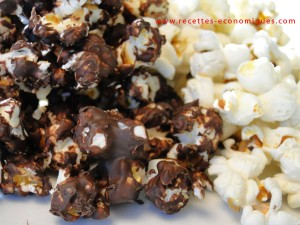 recette pop corn chocolat 2