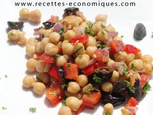 recette economique salade pois chiche (3)