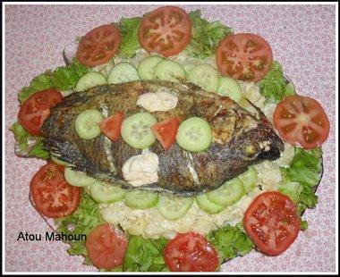 Poisson brais et Salade  Recettes Africaines