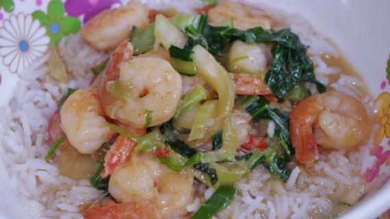 Crevettes au curry vert et lait de coco - Cuisine asiatique © par Fanny GRW - Recettes d'ici et d'ailleurs