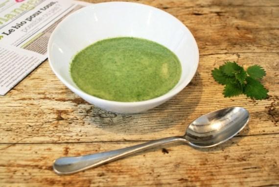 Soupe d'orties sauvages fraiches © Recettes d'ici et d'ailleurs