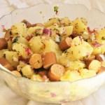 Salade de pommes de terre végétale ou vegan kartoffelsalat © Balico & co