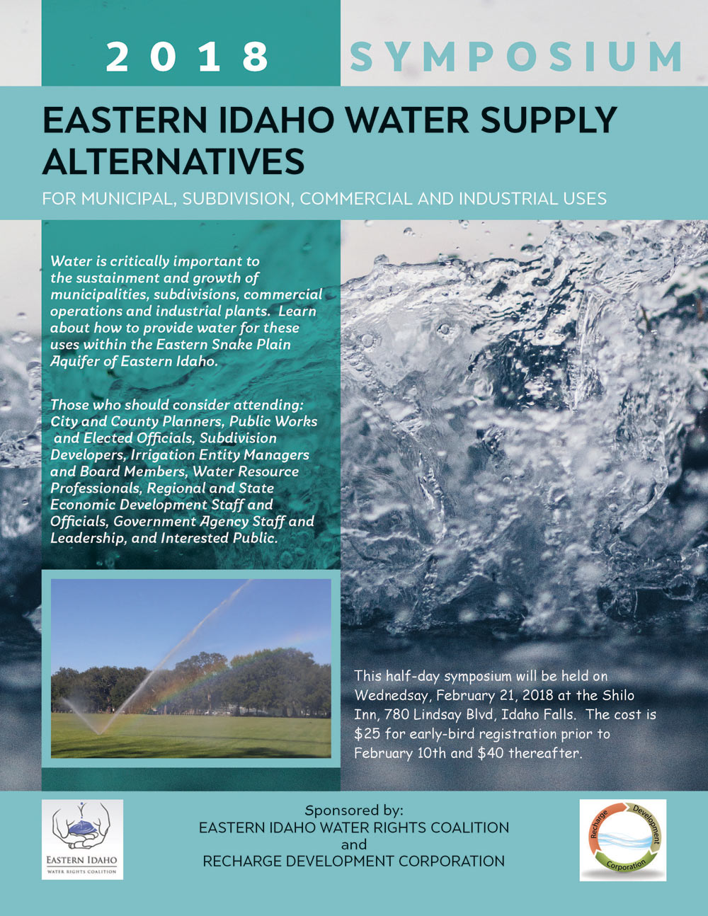 2018 Eastern Idaho Water Supply Alternatives Symposium - Recharge Development Corporation