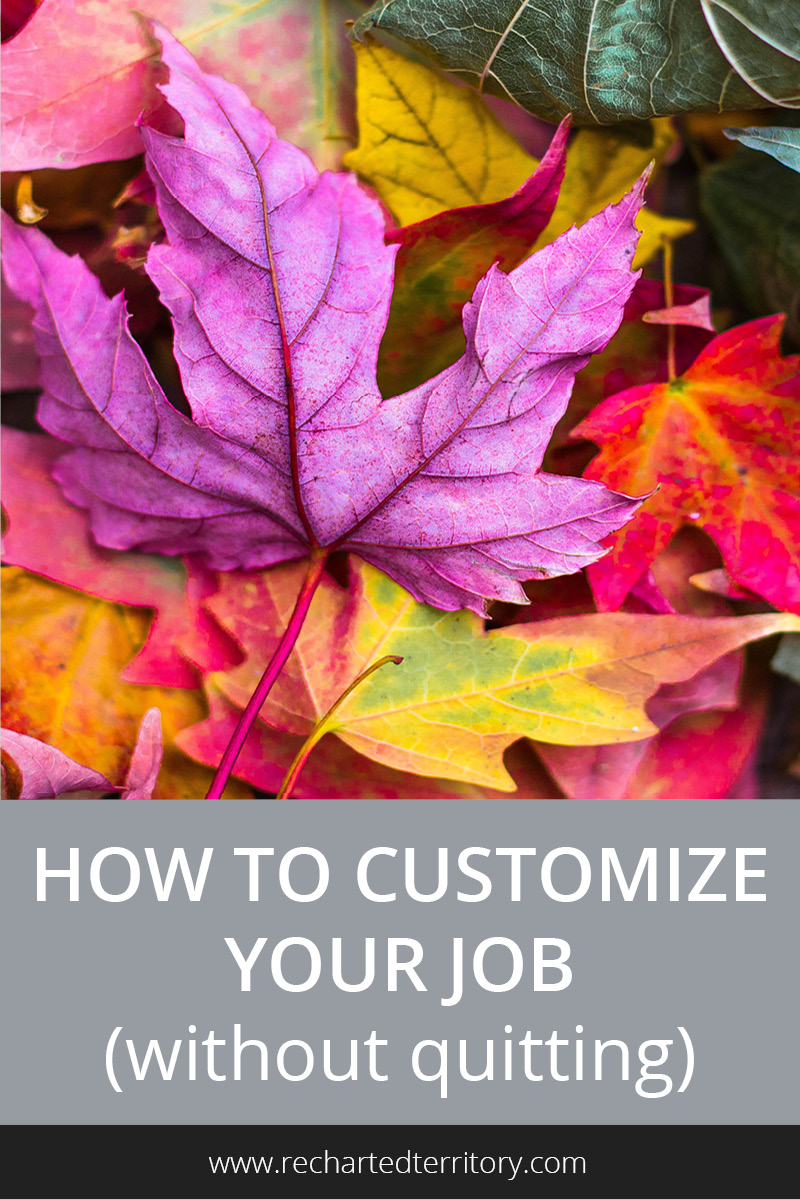 How to customize your job (without quitting)