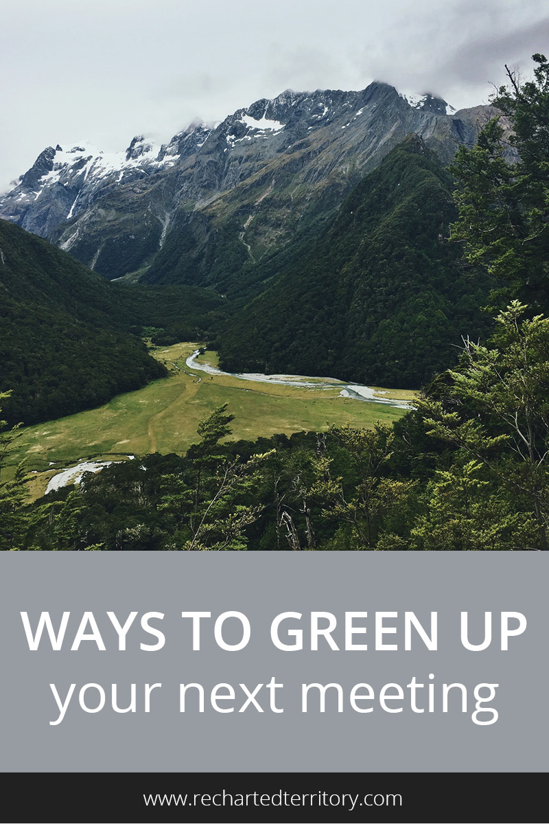 Ways to green up your next meeting