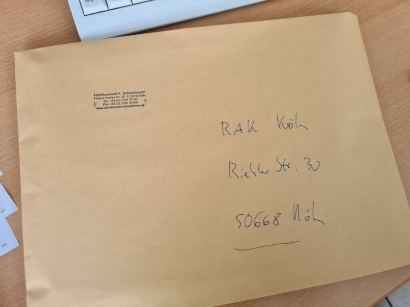 Fachanwalt: Antrag bei RAK Köln eingereicht 1