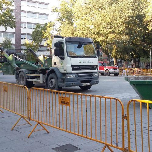 Contenedores Camion Reciclaje y Medioambiente Palencia