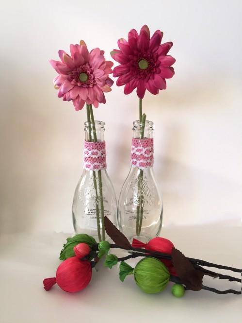 Te animas a hacer estos floreros con botellas de agua