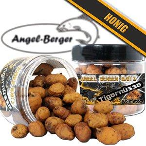 Assortiment de noix tigrées Angel Berger – Appâts de pèche – Pot de 100 g, miel