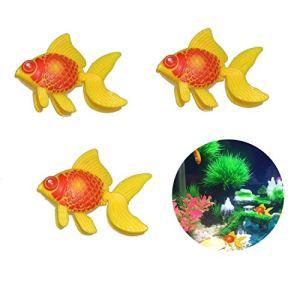 Godagoda 3pcs Plastique Aquarium Poisson d'or Natation Poisson Réservoir Décoration Jaune Rouge