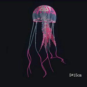 Godagoda Décoration Aquarium Artificielle Méduse 5x15cm/8x20cm/10x22cm Outils de Compagnie Poisson Silicone Accessoire