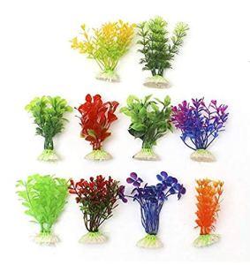 Runfon Lot DE 10 Plantes d'eau décorative pour Aquarium