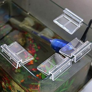 SADA72 Lot de 4 Clips Transparents en Verre pour Aquarium 6/8 / 10/12 mm, 4 pièces, 6 mm