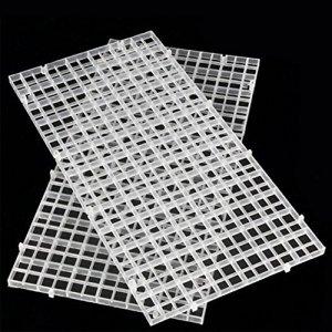 SDYDAY d'Isoler intercalaire Plateau Caisse Aquarium Transparent Grille inférieur filtre
