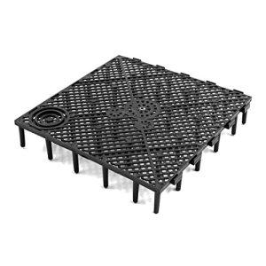 sourcingmap 5pcs plastique noir Conseil Séparation grille filtration pour Aquarium aquarium poissons plaque