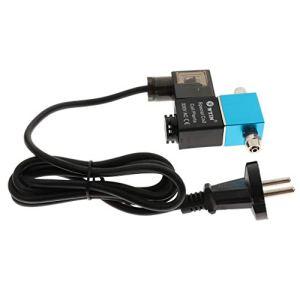 B Blesiya Ac110v Co2 Aquarium électrovanne électrique Vanne Magnétique EU Plug – Bleu