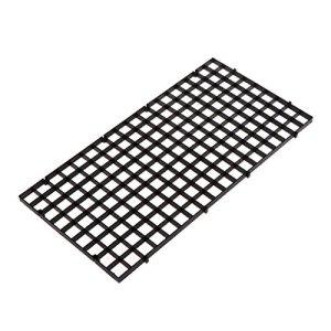 YDZN Aquarium Isolation Plaque intercalaire Filtre Patition Tableau Net intercalaire, 30x 15cm, Noir