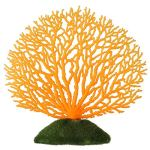 Fdit Corail Artificiel Ornement Bande Corail Plante Ornement Effet Lumineux Coque en Silicone Artificielle pour Aquarium Paysage, Orange