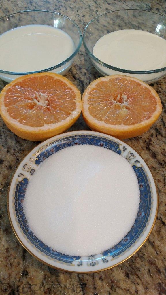 Homemade Grapefruit Gelato ingredients