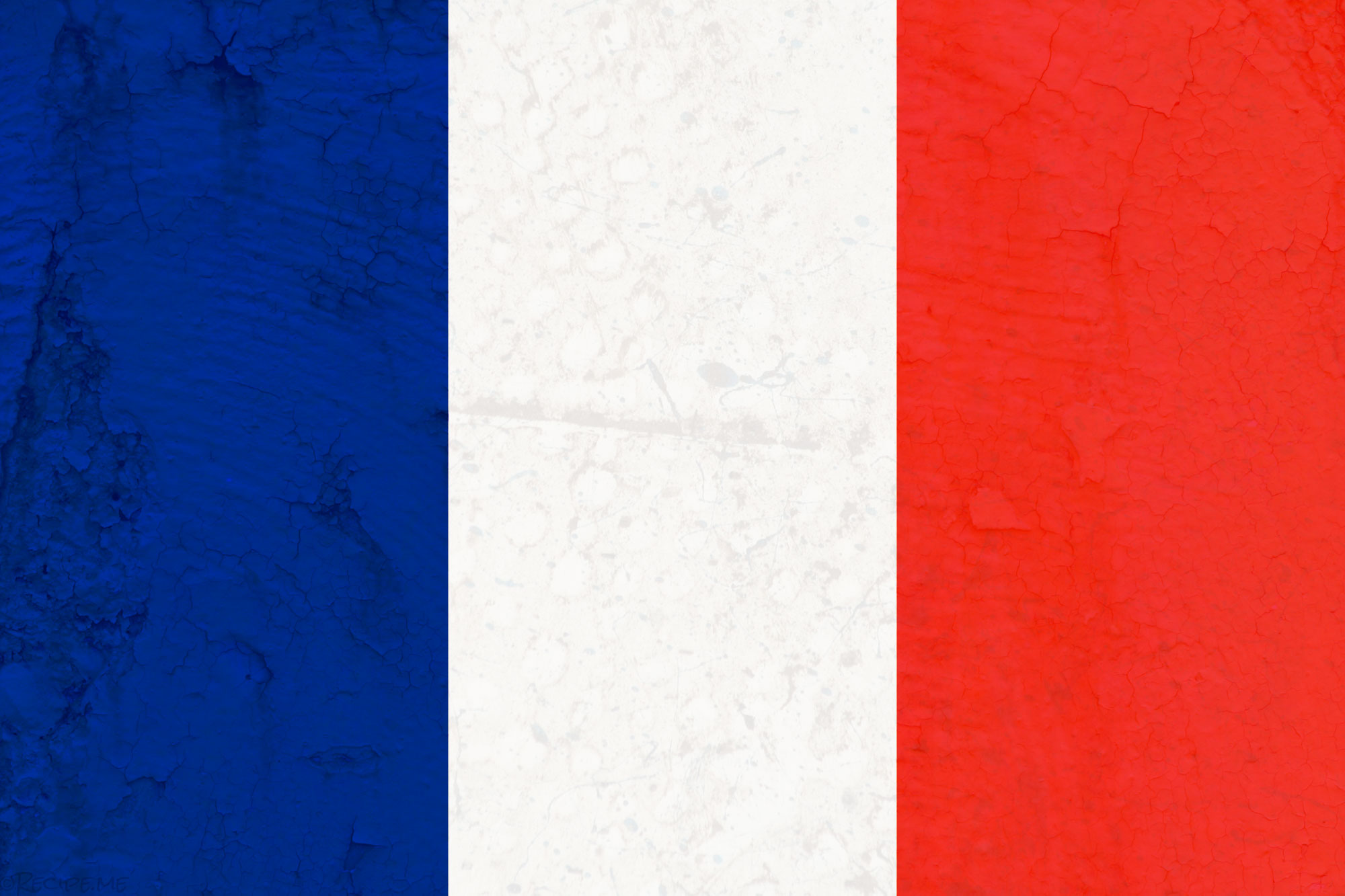 French Flag with Texture