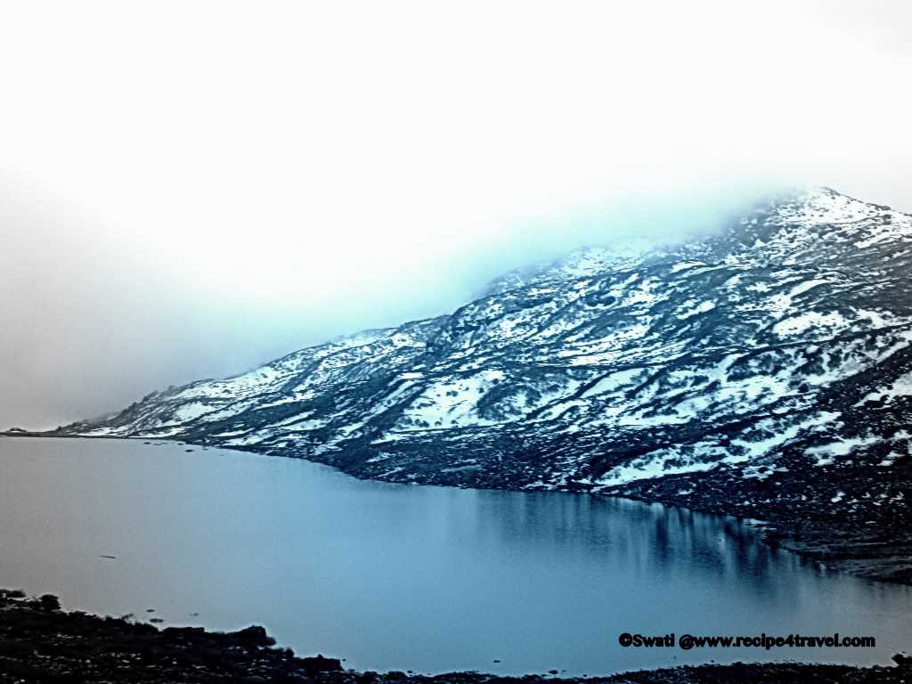 One of the many lakes on the way to Nathu La