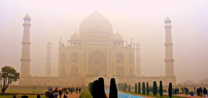 Taj Mahal on a cold misty morning, things romance is made of ?
