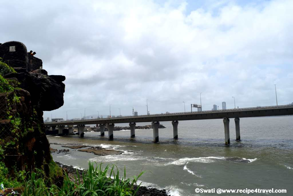 The view of the sealink from Bandra Fort