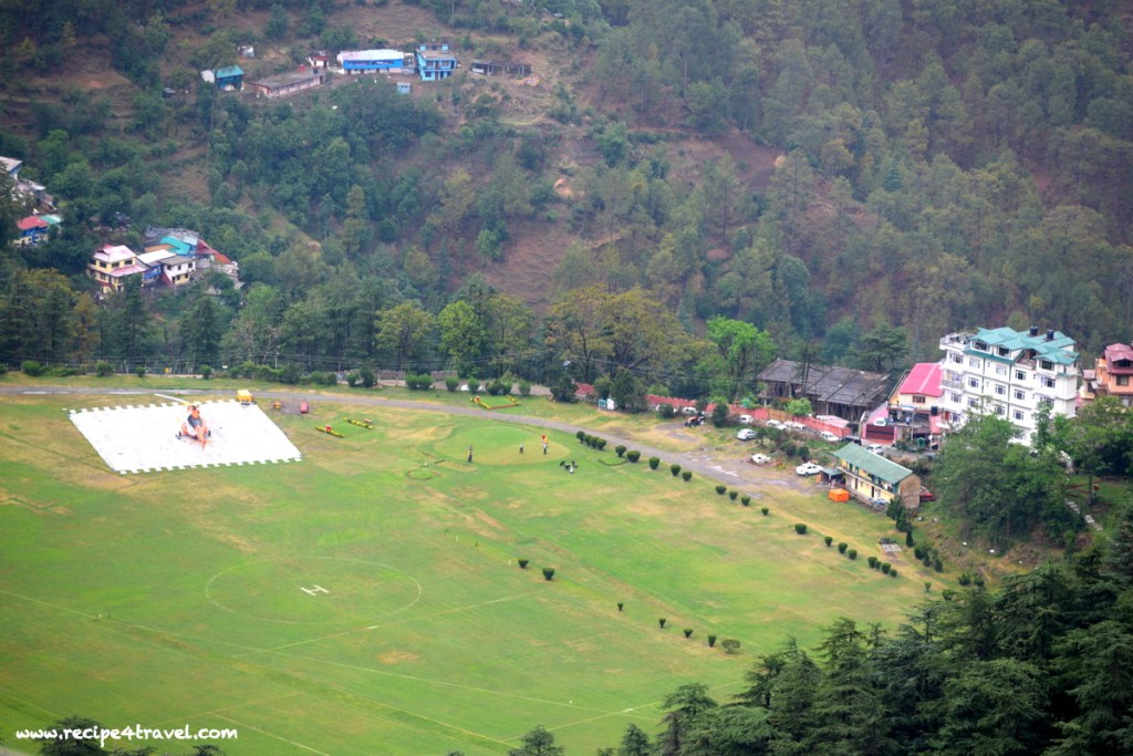 Aerial view of Annadale grounds from Shimla