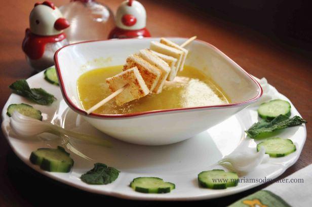 cucumber soup hot recipe