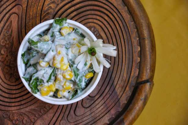 Spinach Sweet Corn Salad