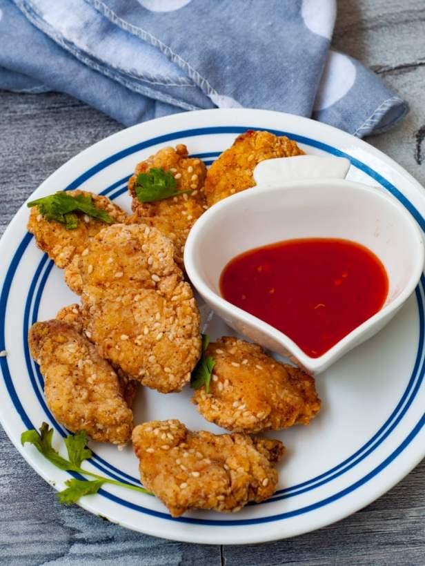 sesame chicken nuggets