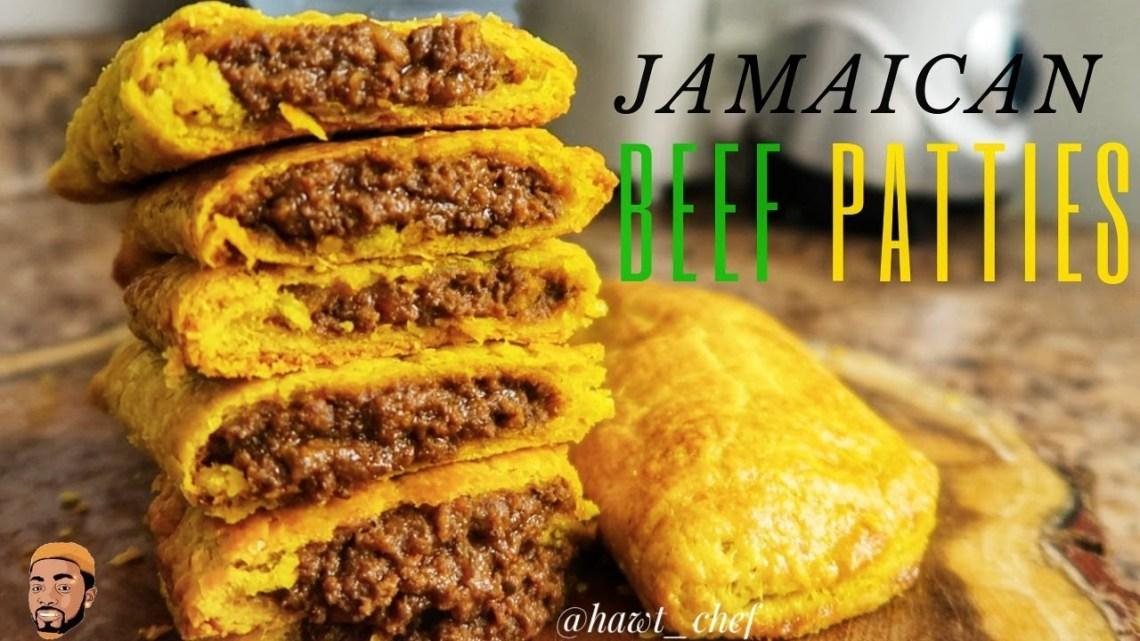 HOW TO MAKE JAMAICAN BEEF PATTIES | Meat Pie | Street Food ...